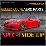 [SEQUENCE] Hyundai Genesis Coupe - SPEC-1 Side Lip Aeroparts Set