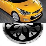 [AUTO CLOVER] Hyundai Veloster - Fuel Tank Cap Cover Molding (B329)