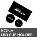 [LEDIST] Hyundai Kona - LED Cup Holder & Console Plates Set Ver.2