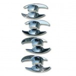 [AUTO CLOVER] Chevrolet Cruze - Door Bowl Chrome Molding Set (C319)