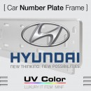 [MINIF] HYUNDAI - UV Color Car Number Plate Frame (MSNS23)
