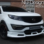 [NEFDesign] KIA Sportage R - Front Lip Aeroparts Body Kit kS50u