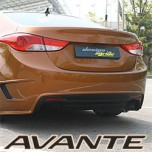 [MYRIDE] Hyundai Avante MD - Rear Bumper Aeroparts Body Kit