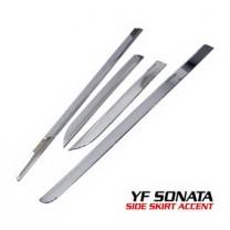 [AUTO CLOVER] Hyundai YF Sonata - Side Skirt Accent Chrome Molding Set (B669)