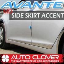 [AUTO CLOVER] Hyundai Avante MD (4/5Dr) - Side Skirt Accent Chrome Molding Set (B751)