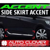 [AUTO CLOVER] Hyundai New Accent - Side Skirt Accent Chrome Molding Set (B755)