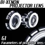 [AUTO LAMP] Bi-Xenon Projection Type Double Angel Eyes CCFL Lens DIY Kit