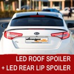 [SM KOREA] KIA K5 - LED Glass Wing Roof Spoiler (BLACK) + LED Lip Spoiler Set