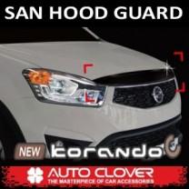 [AUTO CLOVER] SsangYong New Korando C - San Hood Guard Molding Set (B041)