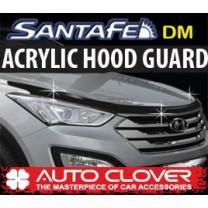 [AUTO CLOVER] Hyundai Santa Fe DM - Acrylic Hood Guard Molding Set (B112)