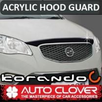 [AUTO CLOVER] SsangYong Korando C - Acrylic Hood Guard Set (B114)