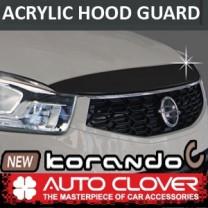 [AUTO CLOVER] SsangYong New Korando C - Acrylic Hood Guard Molding Set (B115)