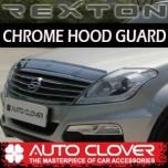 [AUTO CLOVER] SSsangYong Rexton W - Hood Guard Chrome Molding (B506)