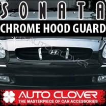 [AUTO CLOVER] Hyundai EF Sonata - Hood Guard Chrome Molding (B511)