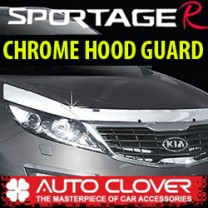 [AUTO CLOVER] KIA Sportage R - Hood Guard Chrome Molding (B515)