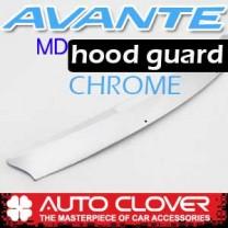 [AUTO CLOVER] Hyundai Avante MD - Hood Guard Chrome Molding (B524)