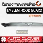 [AUTO CLOVER] SsangYong Korando C - Emblem Hood Guard Chrome Molding (D514)