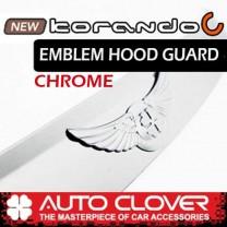 [AUTO CLOVER] SsangYong New Korando C - Emblem Hood Guard Chrome Molding (D515)
