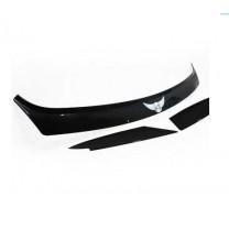 [AUTO CLOVER] KIA Sportage R - Emblem Hood Guard Black Molding (D542)