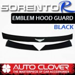 [AUTO CLOVER] KIA Sorento R - Emblem Hood Guard Black Molding (D544)