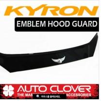 [AUTO CLOVER] SsangYong Kyron - Emblem Hood Guard Black Molding (D553)