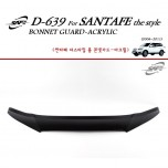 [KYOUNG DONG] Hyundai Santa Fe The Style - Acrylic Bonnet Guard Molding (D-639)