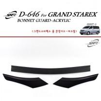 [KYOUNG DONG] Hyundai Grand Starex - Acrylic Bonnett Guard Molding (D-646)