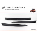 [KYOUNG DONG] KIA Sportage R - Smoked Bonnett Guard Molding (D-685)