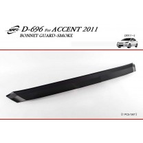 [KYOUNG DONG] Hyundai New Accent - Bonnet Guard Smoked Molding (D-696)