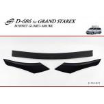 [KYOUNG DONG] Hyundai Grand Starex - Smoked Bonnet Guard Molding Set (D-686)