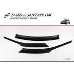 [KYOUNG DONG] Hyundai Santa Fe DM - Smoked Bonnet Guard Molding (D-689)