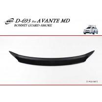 [KYOUNG DONG] Hyundai Avante MD - Smoked Bonnet Guard Molding (D-693)