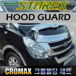 [CROMAX] Hyundai Grand Starex - Hood Guard Chrome Molding Set