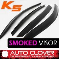 [AUTO CLOVER] K5 - Smoked Door Visor Set (A121)