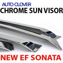 [AUTO CLOVER] Hyundai New EF Sonata - Chrome Door Visor Set (A401)