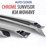 [AUTO CLOVER] KIA Mohave - Chrome Door Visor Set (A462)