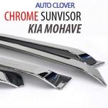 [AUTO CLOVER] KIA Mohave - Chrome Door Visor Set (A462)