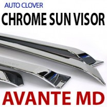 [AUTO CLOVER] Hyundai Avante MD - Chrome Door Visor Set (A481)