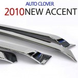 [AUTO CLOVER] Hyundai New Accent - Chrome Door Visor Set (A482)