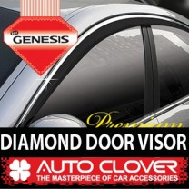 [AUTO CLOVER] Hyundai Genesis - Premium Diamond Door Visor Set (C002)