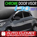 [AUTO CLOVER] Hyundai New i30 - Chrome Door Visor Set (C501)