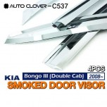 [AUTO CLOVER] KIA Bongo III - Chrome Door Visor Set (C537)