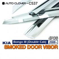 [AUTO CLOVER] KIA Bongo III - Chrome Door Visor Set (C537)