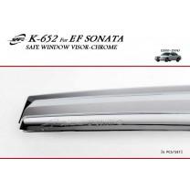 [KYUNG DONG] Hyundai EF Sonata - Chrome Window Visor Set (K-652)