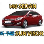 [KYUNG DONG] Hyundai i40 Sedan - Chrome Window Visor Set (K-742)