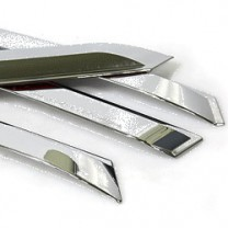 [CAMILY] Hyundai New Accent - Chrome Door Visor Set