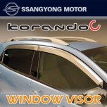 [SSANGYONG] SsangYong Korando C - Chrome Door Visor Set