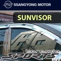 [SSANGYONG] SsangYong Korando Sports - Chrome Door Visor Set