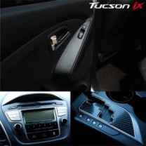 [ARTX] Hyundai Tucson ix​ - Carbon Fabric Decal Stickers (Center fascia, ducts, gear panel, window switches)