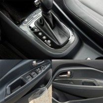 [ARTX] KIA All New Pride​ - Carbon Fabric Decal Stickers (Gear panel, window switches)